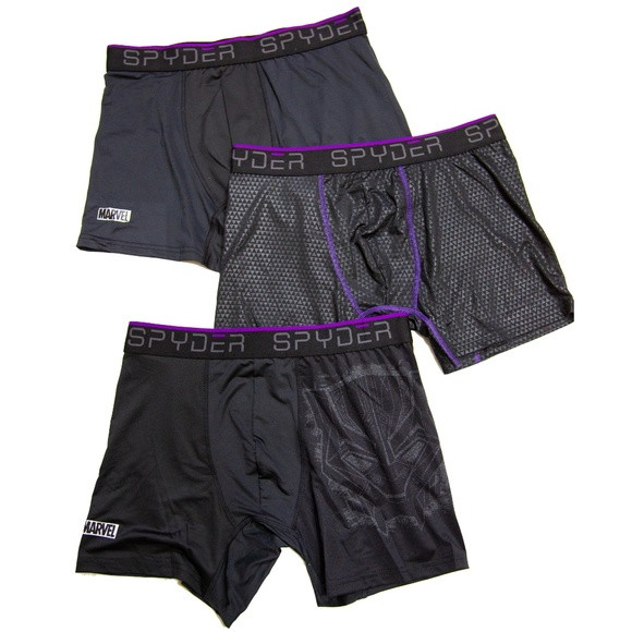 99ab997aa Spyder Underwear & Socks | Black Panther 3pack Boxer Briefs Marvel ...